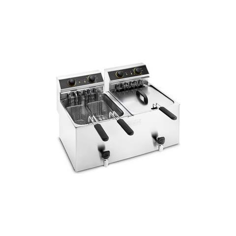 Friggitrice Elettrica Banco 2 Vasche 12+12 Litri Cm 66x49x42 Rs1001