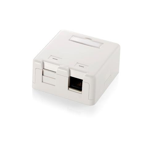 EQUIP Surface Mounted Box for Keystone Jack, Bianco, 6,3 cm, 3 cm, 6,5 cm