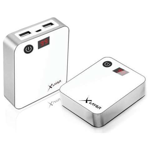 XLAYER 207027, Bianco, Smartphone, Tablet, iPhone, Ioni di Litio, 10000 mAh, USB