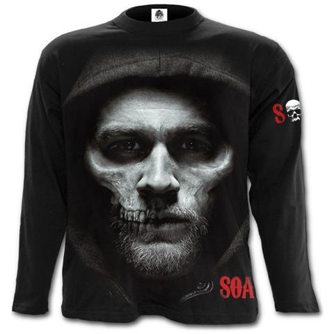 SPIRAL Jax Skull - Sons Of Anarchy Black (Maglia Manica Lunga Unisex Tg. S)