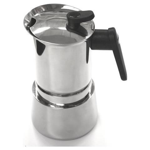 Caffettiera 6 Tazze Induction Steel Moka Acciaio Inox 18/10. Adatta A Tutti I Piani Cottura - 02cf038