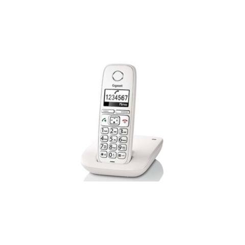 """Gigaset Cordless E260 Display 1.8"""" con Vivavoce e Tasti Grandi colore Bianco"""