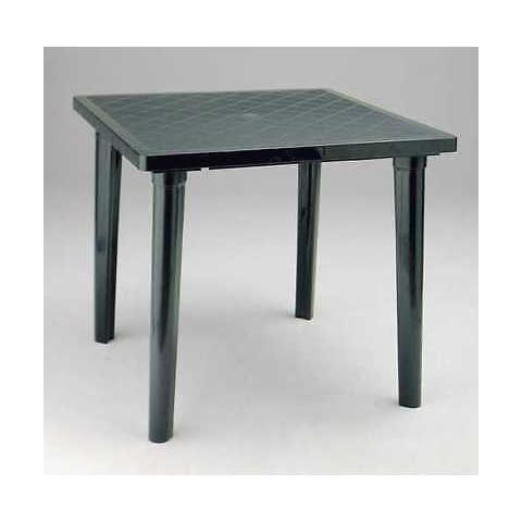 Tavolo Da Giardino Quadrato In Resina Verde