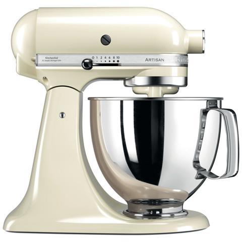 5KSM125PSEAC Robot da Cucina Artisan 4 Accessori Inclusi Capacità 4.8 L Potenza 300 W Colore Crema