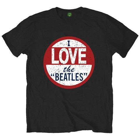 ROCK OFF Beatles (The) - I Love The Beatles Black (T-Shirt Unisex Tg. M)