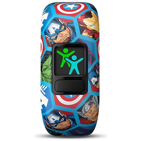 GARMIN Vivofit Junior 2 in Silicone Impermeabile Bluetooth Compatibile con iPhone e Android Contapassi Multicolore
