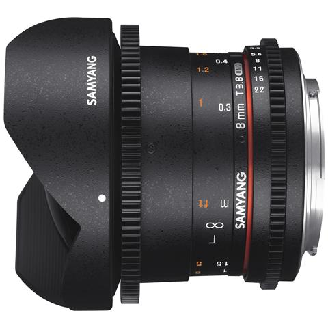 Obiettivo 8mm T3.8 VDSLR UMC Fish-eye CS II