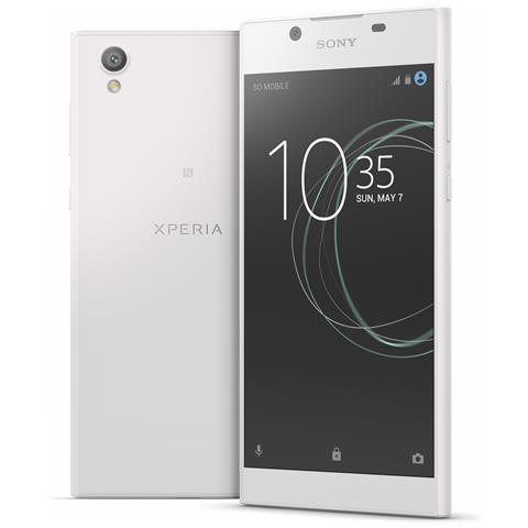 """SONY Xperia L1 Bianco 16 GB 4G/LTE Display 5.5"""" HD Slot Micro SD Fotocamera 13 Mpx Android Italia"""