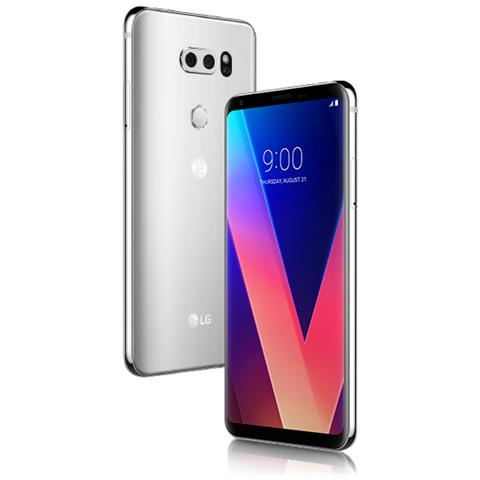 """LG V30 Argento 64 GB 4G/LTE Impermeabile Display 6"""" Quad HD Slot Micro SD Fotocamera 16 Mpx Android Europa"""