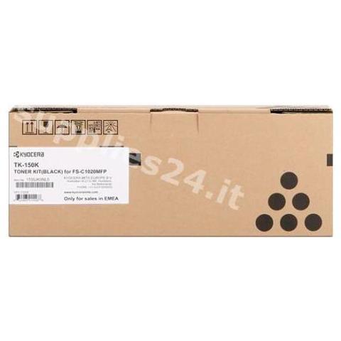 TK-150K Black Toner, Laser, Nero, 6500 Pagine