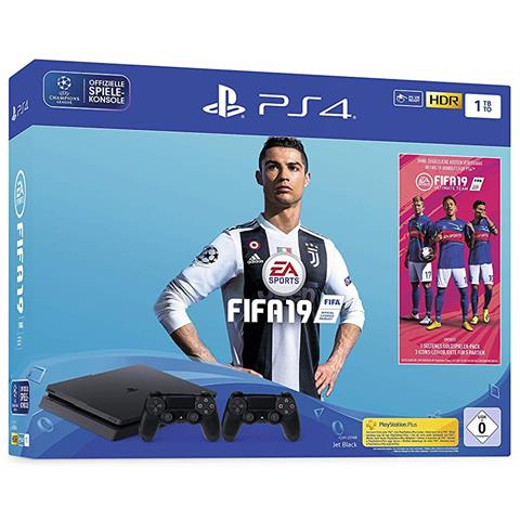 Image of Console Playstation 4 1 TB Slim + FIFA 19 + Secondo Controller DS4