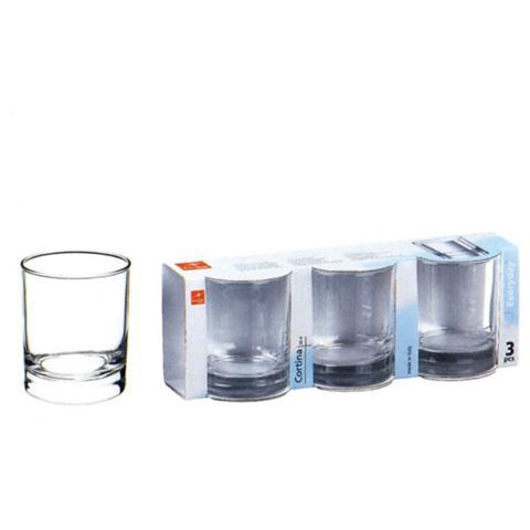 BORMIOLI Confezione 3 Pezzi Bicchiere da Vino - Linea Cortina