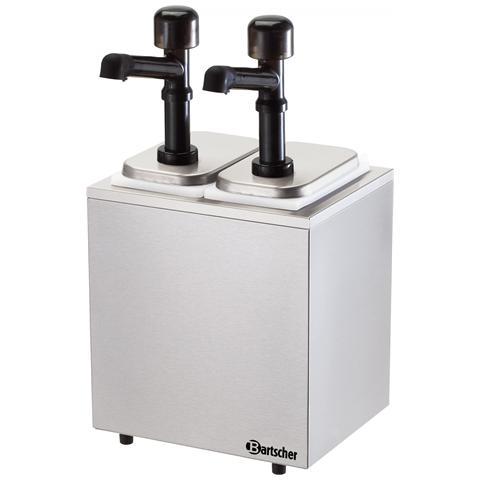 Dispenser salse a due pompe con contenitore 100322