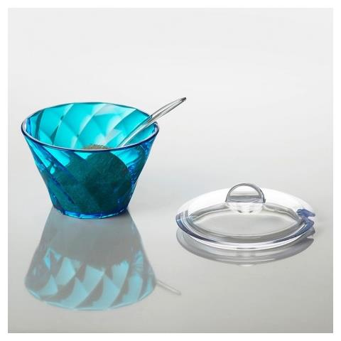 Zuccheriera Con Cucchiaino E Coperchio Diamond - Turchese