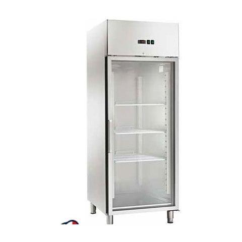 Armadio Refrigerato Ventilato Gn2/1 Acciaio Inox -2 / +8°c Porta A Vetri