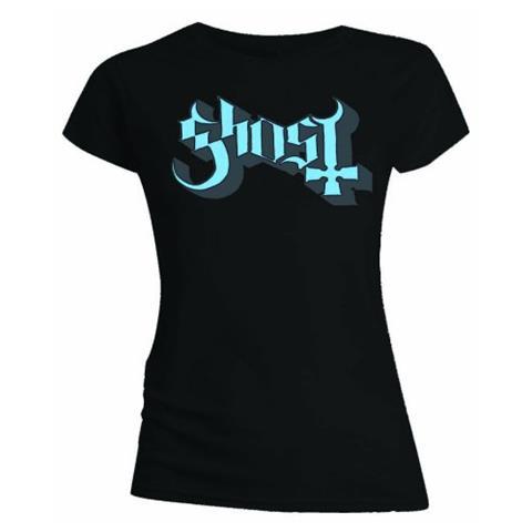 ROCK OFF Ghost - Blue / Grey Keyline Logo (T-Shirt Donna Tg. XL)