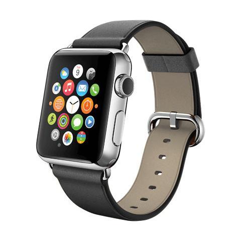 FONEX Cinturino WristBand in vera pelle per Apple Watch da 38mm - Nero