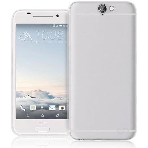 FONEX Pixel Cover Anti Urto 0,4 mm di Spessore in Morbido TPU con Retro Satinato per HTC One A9 Colore Trasparente