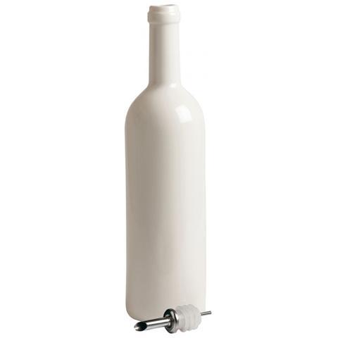 Bottiglia In Porcellana Ø Cm. 7,5 H. 30 - Linea Estetico Quotidiano