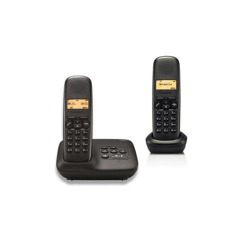 Gigaset A510A Cordless con Segreteria Telefonica Colore Nero