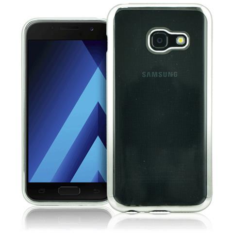 FONEX Cover in TPU per Galaxy A5 (7) Trasparente e Argento