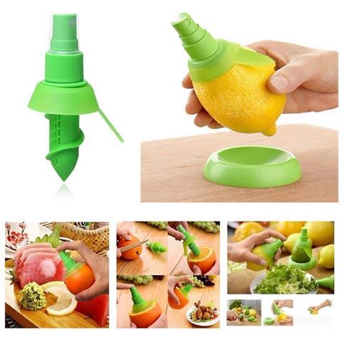 Spremi Limone Spray Set Da Tavola 3 Pezzi, Due Spremi Agrumi Più Base Appoggio