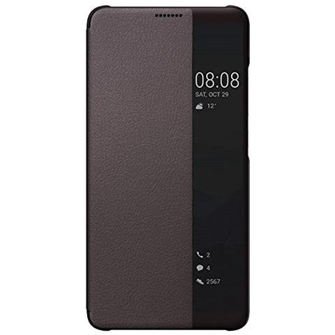 HUAWEI Flip Cover Custodia Window Book Huawei Mate 10 colore Marrone