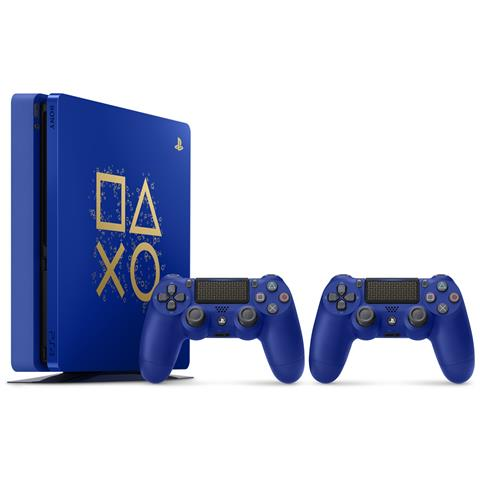 Image of Console Playstation 4 PS4 500 Gb Slim + 2° Controller Dualshock 4 V2 Days of Play Limited Edition