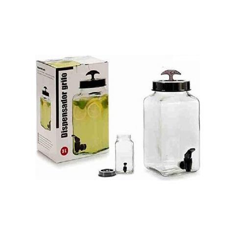 Barattolo Vetro 3l Con Rubinetto Porta Bevande Infusi Drink