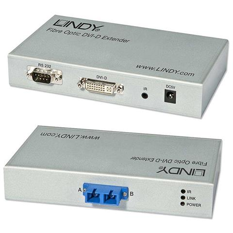 LINDY Extender DVI-D ottico 5 Km