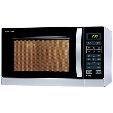 Home Appliances R742INW Piano di lavoro Microonde combinato 25L 900W Argento forno a micro...