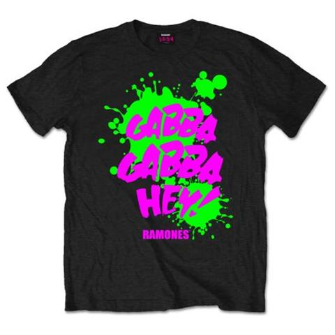 ROCK OFF Ramones - Gabba Gabba Hey (T-Shirt Unisex Tg. S)