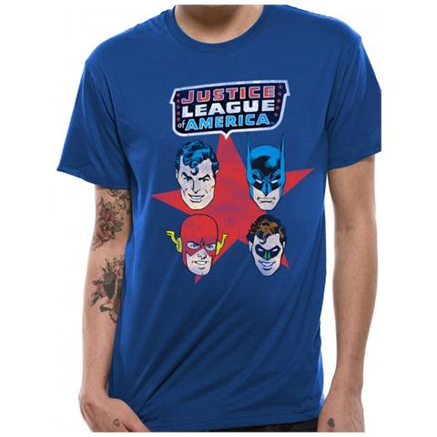 CID Justice League - 4 Faces (T-Shirt Unisex Tg. S)