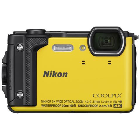 Coolpix W300 Sensore CMOS 16 Mpx Zoom Ottico 5x Video 4K Wi-Fi Bluetooth + Zaino - Giallo