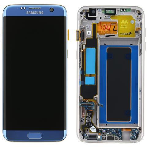 Image of Lcd Touch Display Schermo Originale Samsung Per Galaxy S7 Edge Sm-g935 Blu