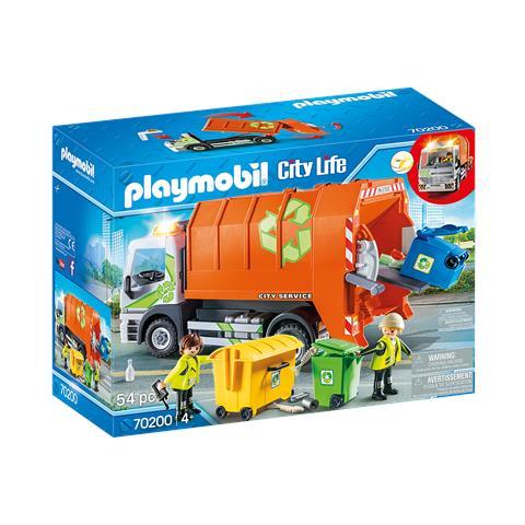 PLAYMOBIL City Life - 70200 - Camion della raccolta differenziata