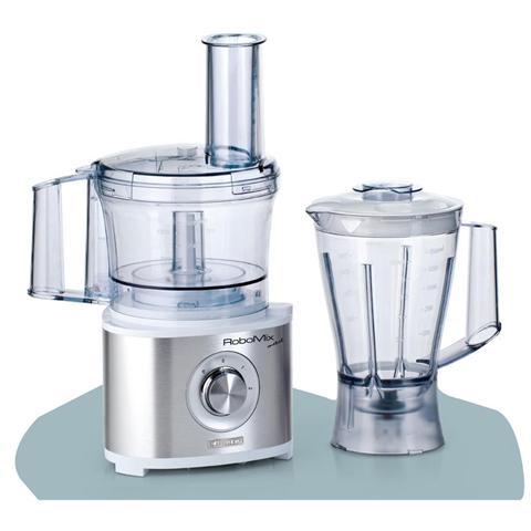 Robomix Metal Robot da Cucina Capacità 2,1 Litri Potenza 600 Watt Colore Bianco / Argento