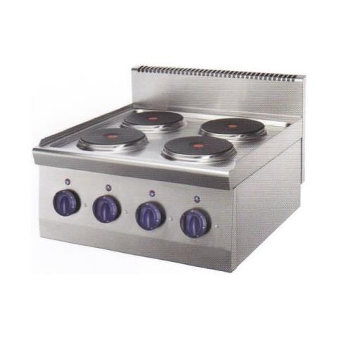 Cucina Piano Cottura Elettrico Banco 4 Piastre Cm 80x70x25 Rs0701