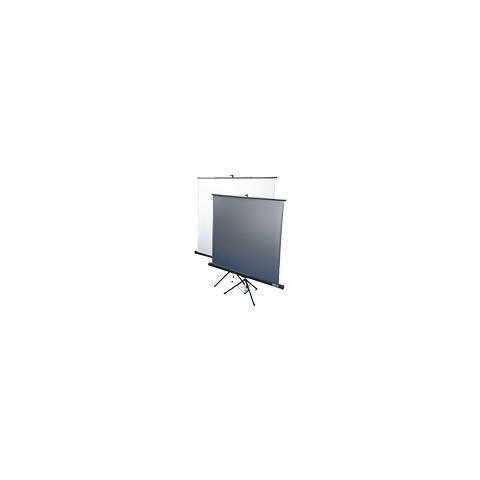 SOPAR Schermo a Cavalletto Standard Double Projection 155 x155 Tela Reversibile Lenticolare Metallizzata / Bianco con Tenditore