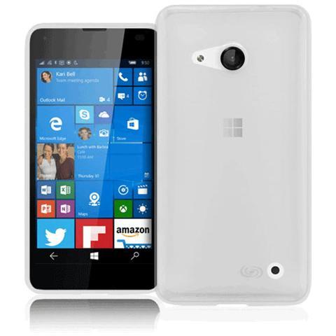FONEX Inv Cover Ultra Sottile 0,2 mm in Morbido TPU per Microsoft Lumia 550 Colore Nero Trasparente