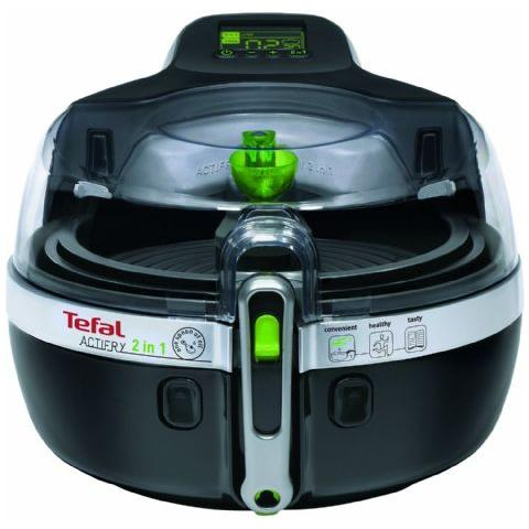 Friggitrice Actifry YV 9601 Capacità 2 Litri 1550 Watt Colore Nero / Argento