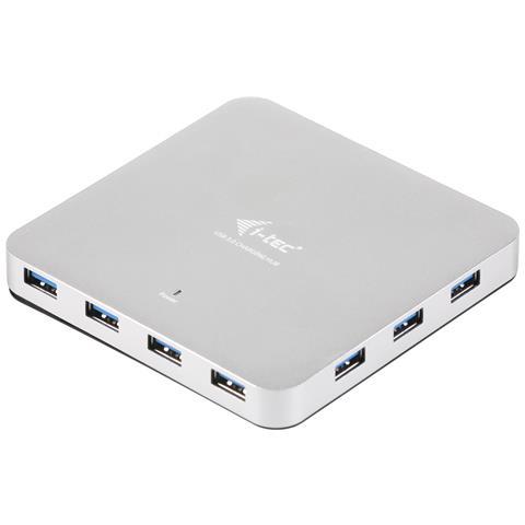 U3HUBMETAL10UK USB 3.0 (3.1 Gen 1) Type-A 5000Mbit / s Argento perno e concentratore