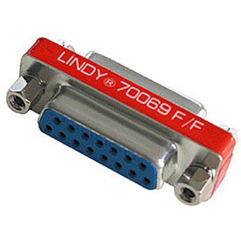 LINDY Mini adattatore standard 15 poli sub-D Femmina / Femmina