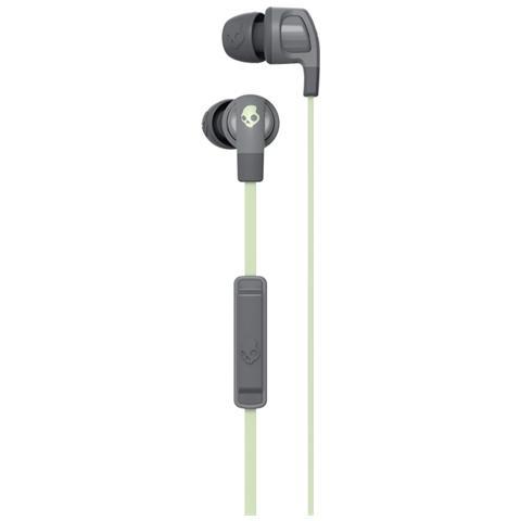 SKULLCANDY - Auricolari In-Ear Filo con Microfono S2PGJY-574 Colore Grigio    Verde 4342b62b5dcd