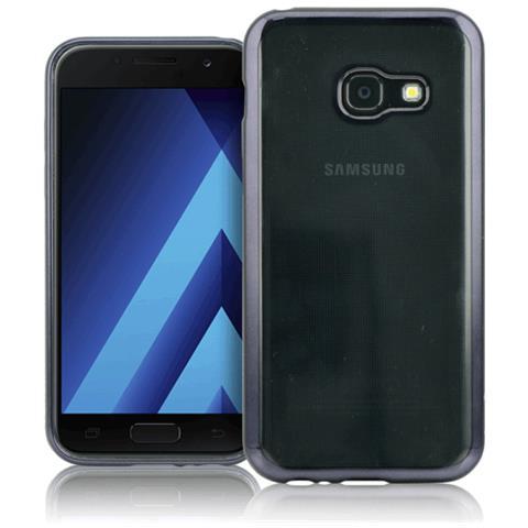 FONEX Cover in TPU per Galaxy A3 (7) Trasparente e Nero