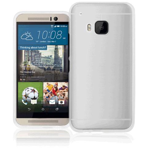 FONEX Pixel Cover in Morbido TPU con Retro Satinato per HTC One M9 Colore Trasparente