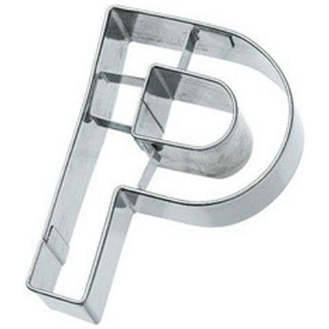 Tagliapasta Lettera P In Metallo 6 Cm
