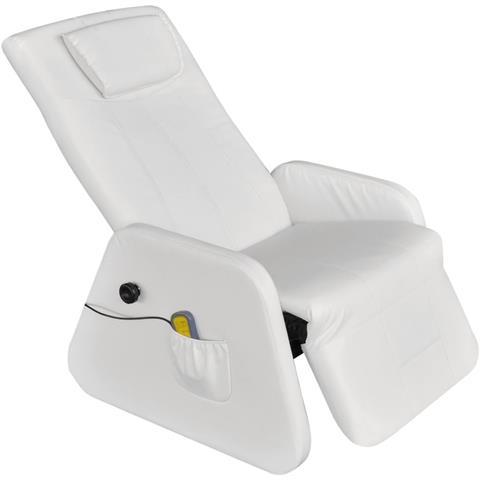 Vidaxl Poltrona Massaggiante Reclinabile Gravità Zero Ecopelle Bianca