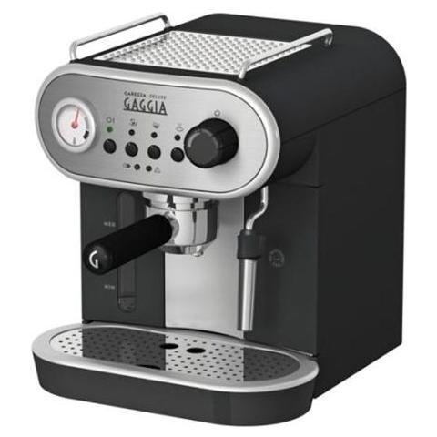 Carezza Deluxe Macchina da Caffè Espresso Manuale Serbatoio da 1.4 Litro Potenza 1900 Watt Colore Nero / Argento