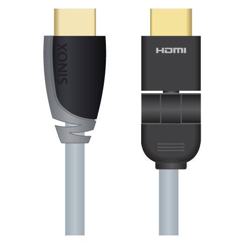 SINOX HDMI 360 (m) - HDMI (m) , 1.0m, 1m, HDMI, HDMI